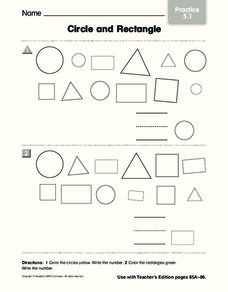 Circle and Rectangle Worksheet