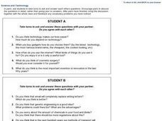 Science and Technology Discussion Questions Worksheet