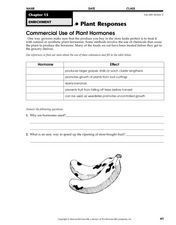 Commercial Use of Plant Hormones Worksheet