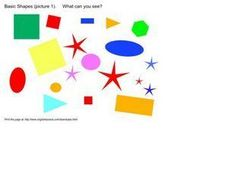 Basic Shapes Picture: What Can You See? Worksheet