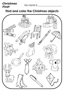 Christmas Find! Worksheet