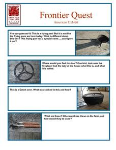 Frontier Quest--  American Exhibit Lesson Plan