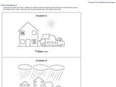 Conversation Pictures-- Dictation 3 Worksheet
