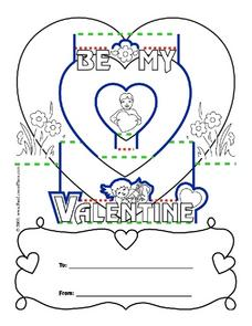 Valentines Day PopUp Card 2nd  4th Grade Worksheet  Lesson Planet