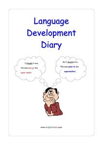 Language Development Diary Worksheet
