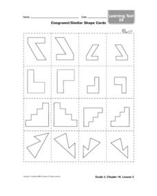 Congruent / Similar Shape Cards Worksheet
