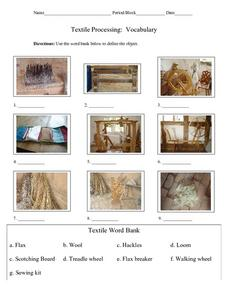 Textile Processing: Vocabulary Lesson Plan