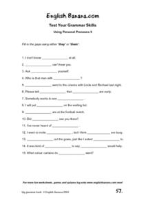 Using Personal Pronouns 5 Worksheet