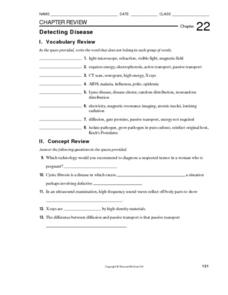 Detecting Disease Worksheet