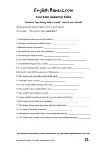 Question Tags Practice Worksheet