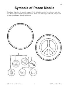 Symbols of Peace Mobile Worksheet