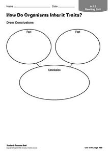 How Do Organisms Inherit Traits Graphic Organizer for 4th