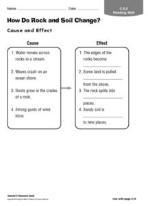 How Do Rock And Soil Change? Worksheet