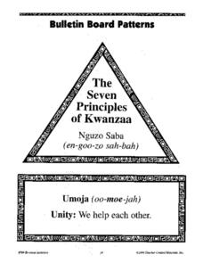 Bulletin Board Patterns: The Seven Principles of Kwanzaa