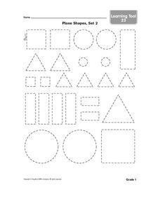 Plane Shapes, Set 2 Worksheet