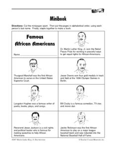 Minibook: Famous African Americans Worksheet