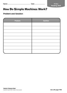 How Do Simple Machines Work? Worksheet