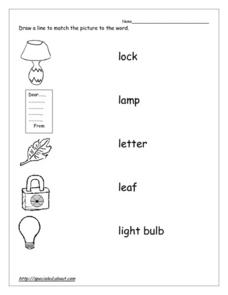 Word Picture Match Worksheet