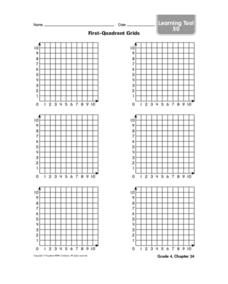 First-Quadrant Grids Worksheet