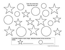 Circles and Stars Worksheet