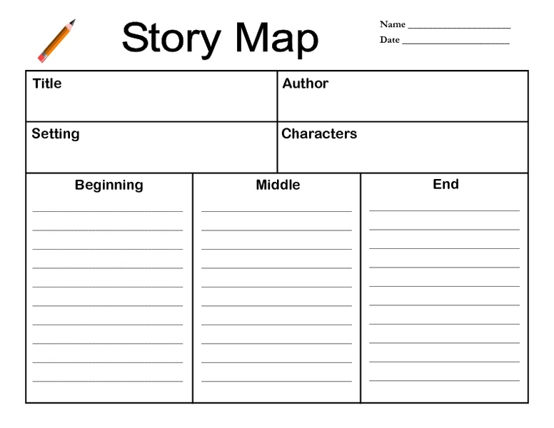photograph relating to Free Printable Story Map named tale map for 2nd quality -