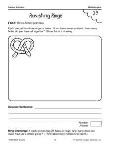 Pretzel Multiplication Worksheet