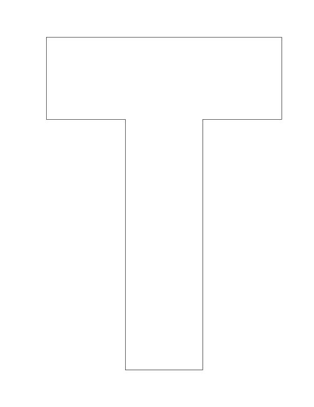the letter t hollow pre k kindergarten worksheet lesson planet