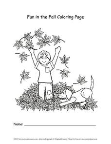 Fun in the Fall Coloring Page Lesson Plan