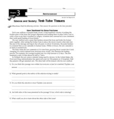 Test-Tube Tissues Worksheet