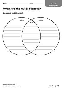 What Are the Outer Planets? Worksheet