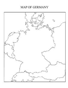 Map of Germany Lesson Plan