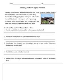 Farming on the Virginia Frontier Lesson Plan