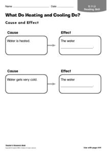 What Do Heating and Cooling Do? Worksheet