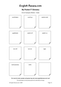 My Pocket IT Glossary A-Z of Computer Words- Verbs 2 Worksheet