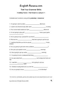 Troubling Tenses 1 Worksheet