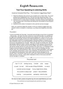 Customer Role Play Worksheet