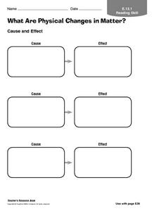 What Are Physical Changes in Matter? Worksheet