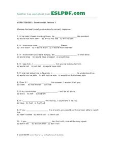 Verb Tenses; Conditional Tenses-1 Lesson Plan