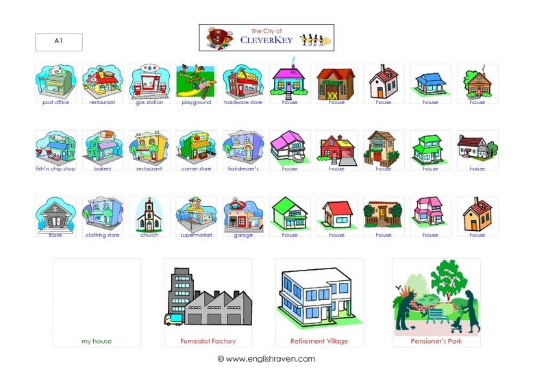The City of CleverKey-- More Pictures Graphic Organizer