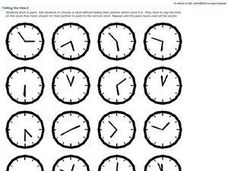 Telling the Time 2 Worksheet