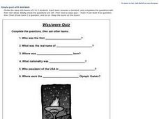 Simple past with was/were Worksheet