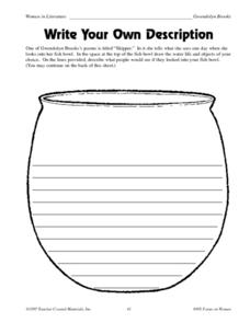 Write Your Own Description Worksheet