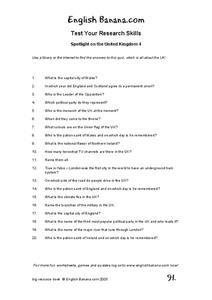 United Kingdom 4 Worksheet