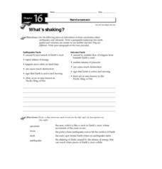 What's Shaking? Worksheet