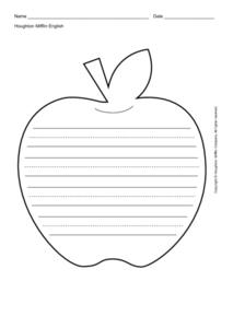 Apple Writing Template Printables & Template