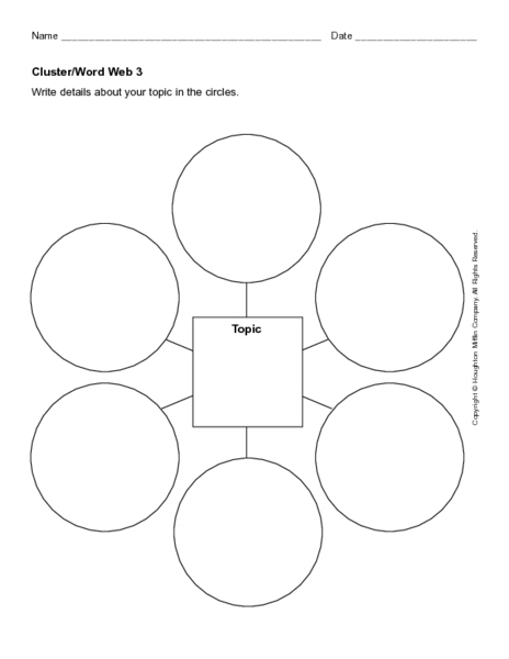 Clusterword web 3 2nd 4th grade worksheet lesson planet pronofoot35fo Gallery