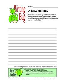 Writing Bug - A New Holiday Lesson Plan
