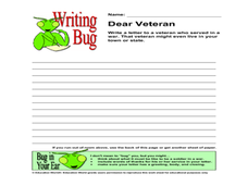 Writing Bug - Dear Veteran Lesson Plan