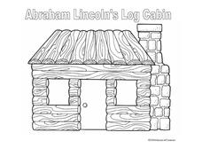 Abraham Lincoln's Log Cabin Worksheet