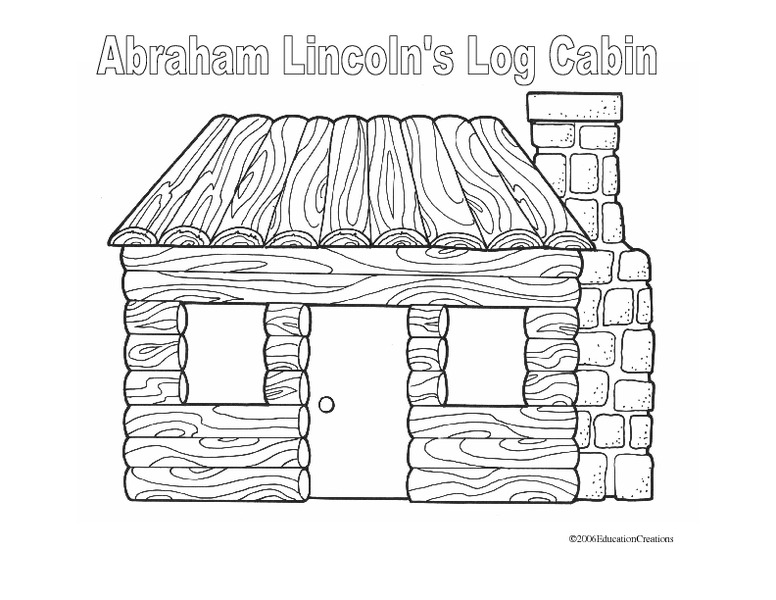 abraham lincoln log cabin coloring pages - photo #30